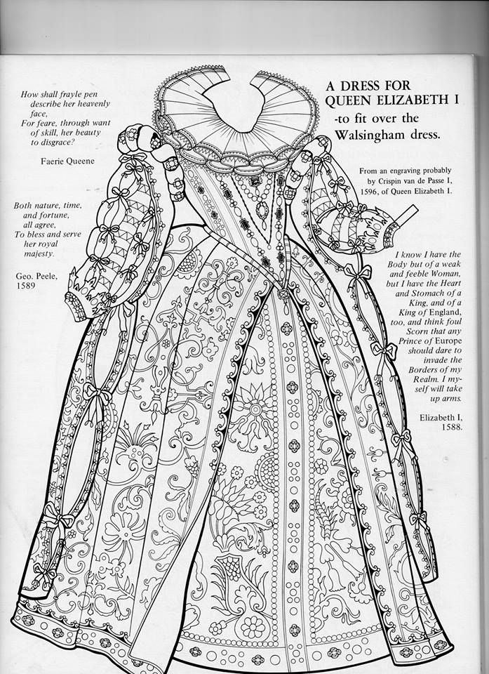 Elizabethan gown detail