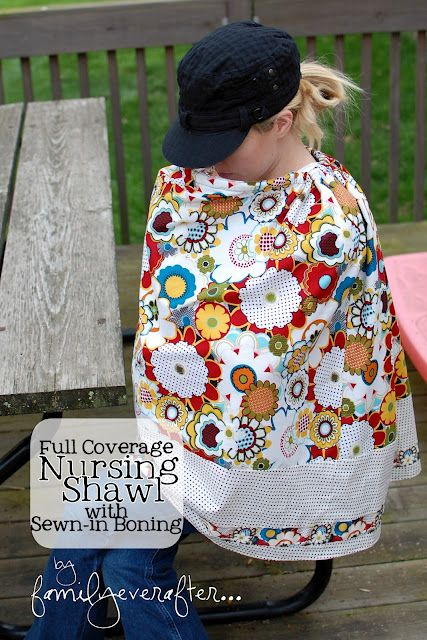 Full Coverage Nursing Shall Tutorial!! Need one for the next baby!! #baby #nursingcoverCovers Tutorials, Full Coverage, Shawl Tutorials, Nursing Covers, Nurs Covers, Sewn In Bones, Nurs Shawl, Coverage Nursing, Nursing Shawl