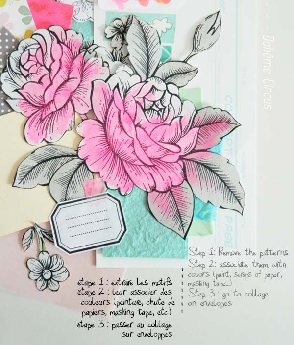 DIY enveloppes fleuries - How to create a floral collection of envelopes - Bohème Circus