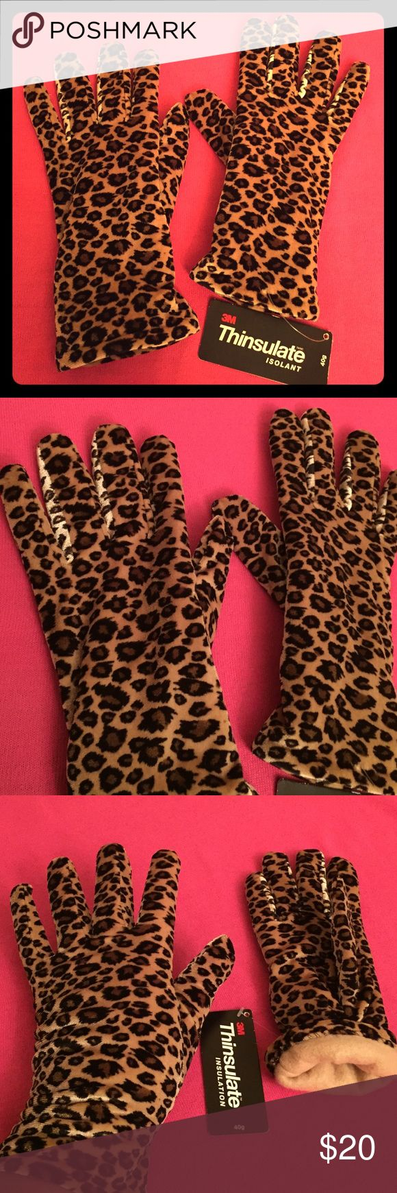 🆕 Animal Print Gloves Cejon Animal Print Gloves. OS. Soft Fabric Inside & Outside. Thinsulate Isolation: 30 Gram. 90% Polyester/10% Spandex. Tan Fleece Lining. Elasticized Back. Gloves come right below your wrists. Excellent Condition. Brand New. No Trades. Cejon Accessories Gloves & Mittens