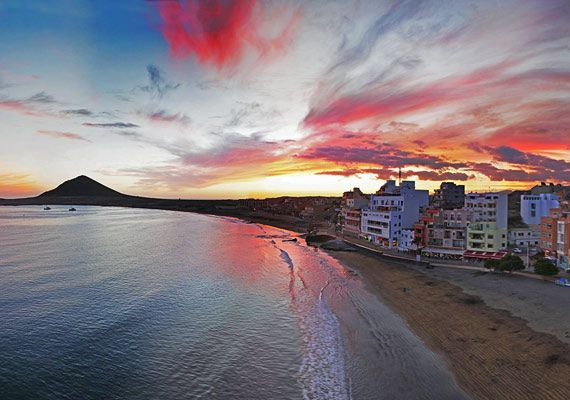 Sunset in El Medano, Tenerife.