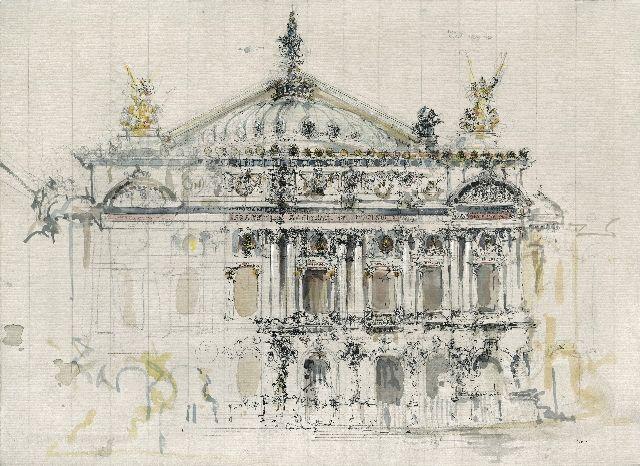 Elizabeth Ockwell Paris Opera Facade 2004
