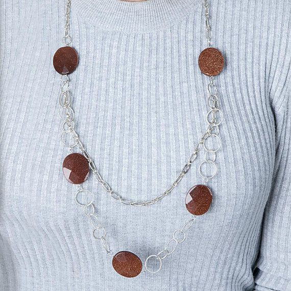 goldstone by haxworth necklaces charms light of necklace caryl for blue