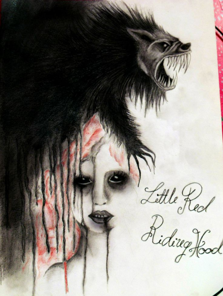 little red riding hood drawing