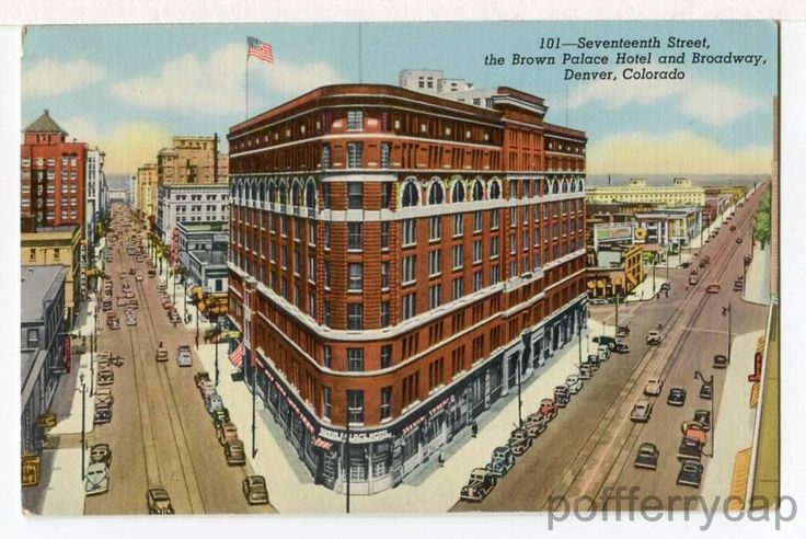 Panorama - 17th St. & Broadway, Brown Palace Hotel, Denver ...