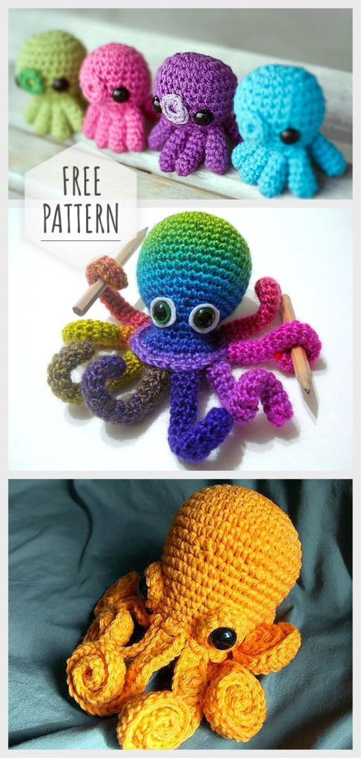 Free (Crochet) Pattern Friday! Octopus Amigurumi | Choly Knight | 1510x720