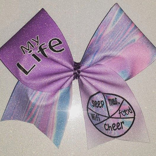 Cheer Bow-MY LIFE by BOWcasions on Etsy https://www.etsy.com/listing/245995108/cheer-bow-my-life