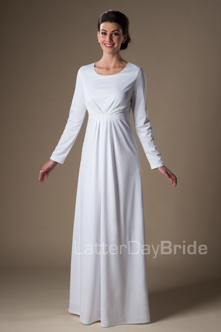 Dress for the temple ceremony dresses pinterest for Lds wedding dresses utah
