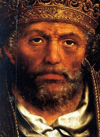 Grão Vasco (Vasco Fernandes) - c.1475-c.1542 - Santo Pedro first pope, detail