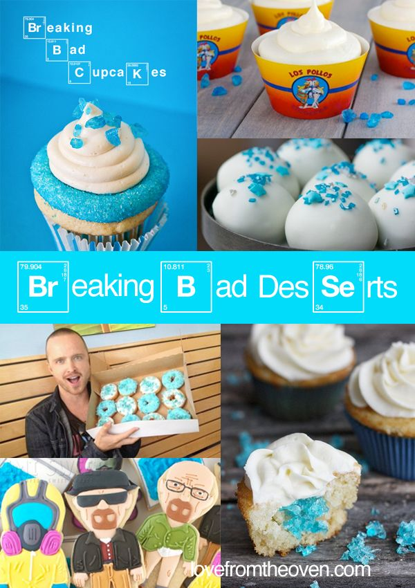 Breaking Bad Party Themed Desserts #BreakingBad @Kristyn Fitzgerald Fitzgerald Fitzgerald Caranci let's make these!!!!!!