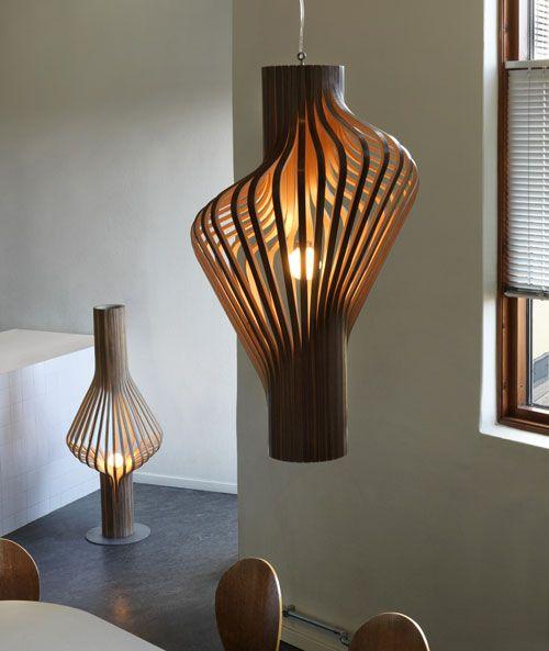 Lámpara Diva, Femenino Diseño Hecho En Madera