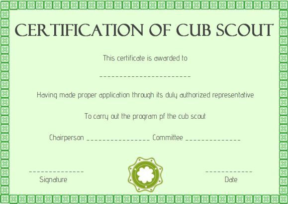 Pin On Scout Certificate Templates