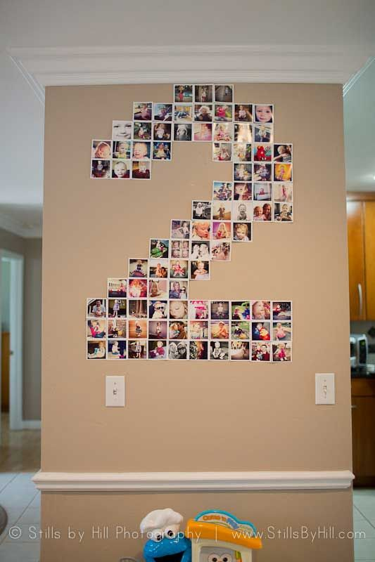 #DIY Number Photo Collage for birthday parties