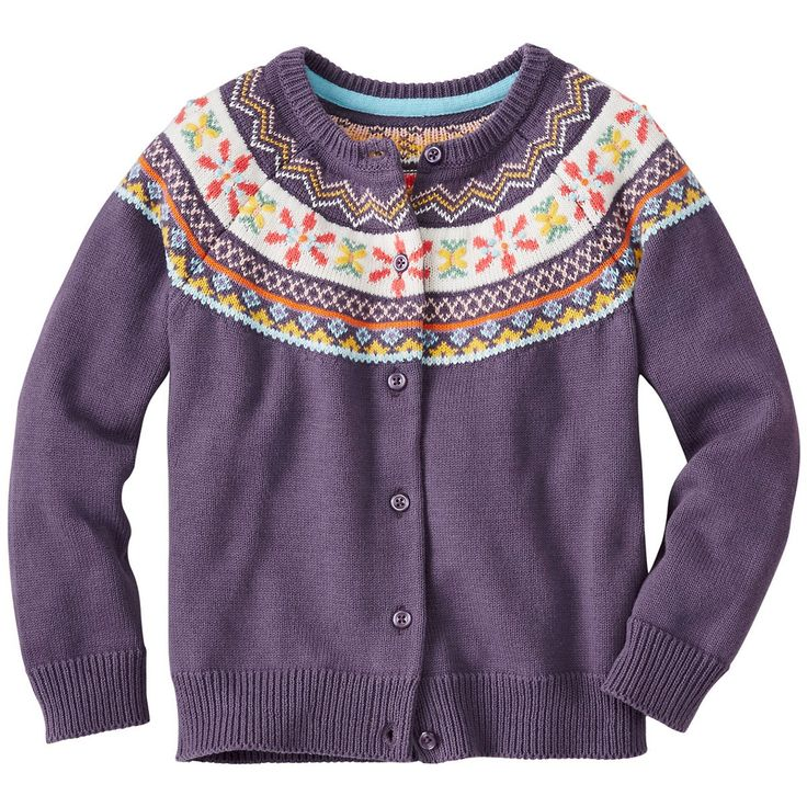 Girls Fairest Isle Cardigan by Hanna Andersson