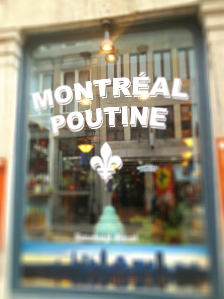Montréal - Poutine, plat typique.