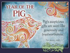 Chinese Zodiac Pig years are 1959, 1971, 1983, 1995, 2007, 2019, 2031. Get in-depth info on the Year of the Pig traits & personality! #pig #yearofthepig #chinesezodiac #chinesezodiacsigns #chinesenewyear #horoscope #astrology