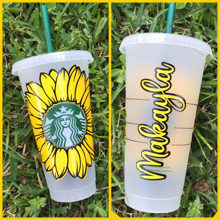 Download Sunflower Starbucks Reusable Venti Cup Cold Cup Tumbler ...