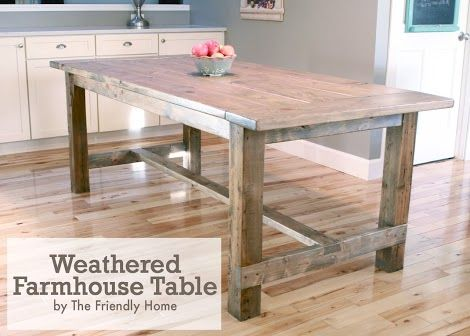 Counter Height Farm Table : ... Table Updated, Diy Furniture, Farmhouse Table, Ana White, Diy Projects