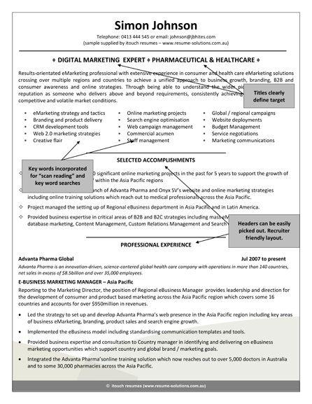Sample Resume Recruiter Position