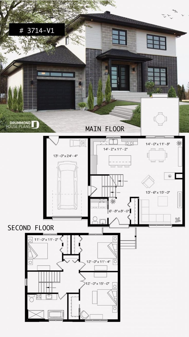 12 Two Storey House Design with Floor Plan with Elevation