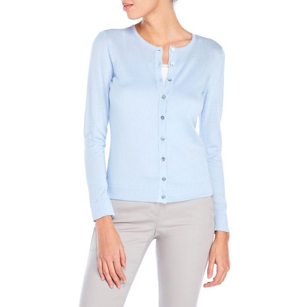 August Silk Petite Cotton Blend Cardigan ($23) ❤ liked on Polyvore featuring tops, cardigans, blue, button front cardigan, cardigan top, cotton blend cardigan, short-sleeve cardigan and petite cardigans