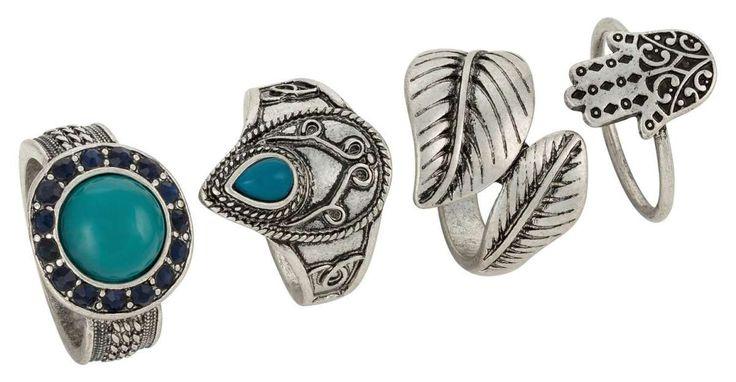Der Türkis hat bei den Indianern eine heilende und schützende Wirkung. Dieses zauberhafte, antiksilberfarbene Ring-Set ist aber nicht nur ein spirituelles Meisterwerk, sondern vor allem ein hübsches Schmuck-Ensemble mit antiken...
