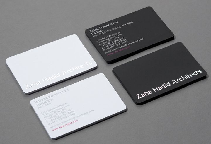 Zaha Hadid Architects brand identity by Greenspace branding