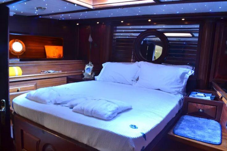 The dreamy cabin aboard the Prince de Neufchatel yacht