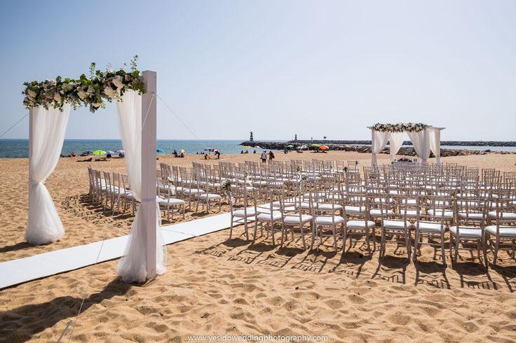 weddings by rebecca beach ceremony. Vilamoura beach wedding. Wedding finishing touches. Algarve wedding rental company