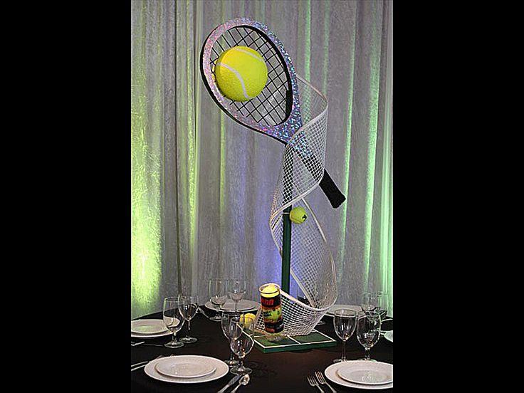 tennis centerpiece ideas | Theme Centerpieces | Tall, Dramatic, Colorful, Dimensional, Theme ...