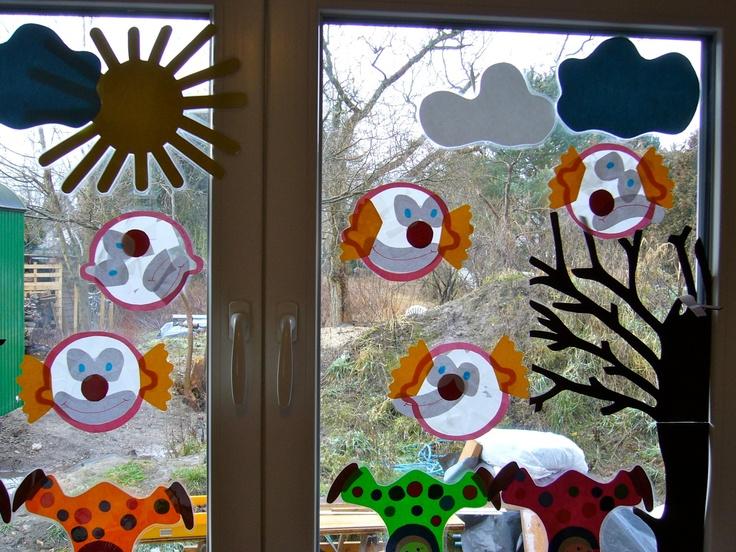 Fasching Fensterdeko Basteln Dansenfeesten