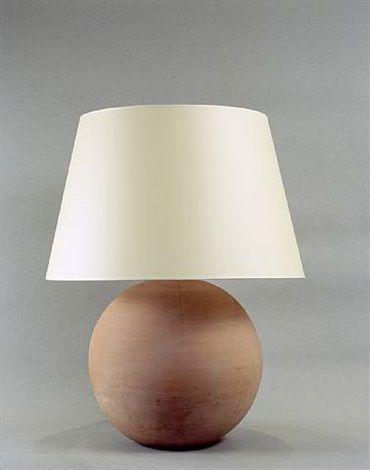Lampe boule en terre cuite by Jean-Michel Frank