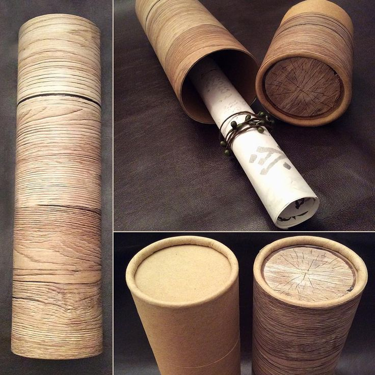 Simple cardboard postal tube turned into a usable wooden shaped cargo log.
