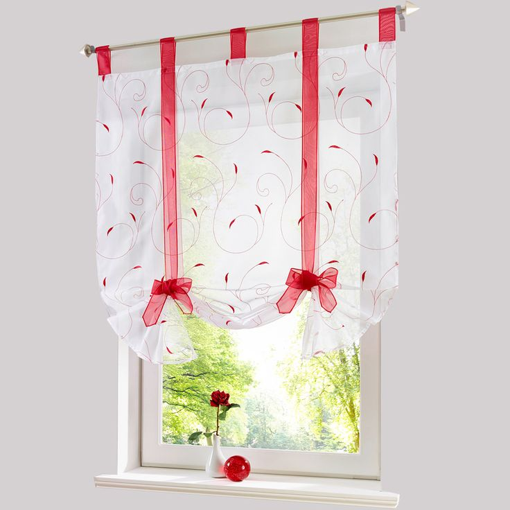 Roman shade European embroidery style tie up window curtain kitchen curtain voile sheer tab top window brand curtains cortinas,