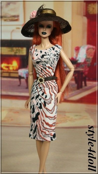 "style4doll dress  for Fashion Royalty 12"" Barbie Silkstone."
