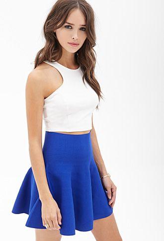 blue high waisted skater skirt | Gommap Blog