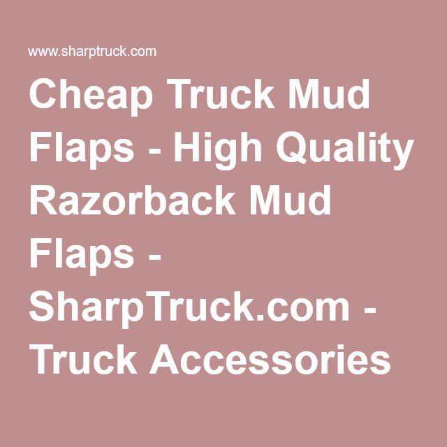 Cheap Truck Mud Flaps - High Quality Razorback Mud Flaps - SharpTruck.com - Truck Accessories #MudGuards #AffordableMudGuards