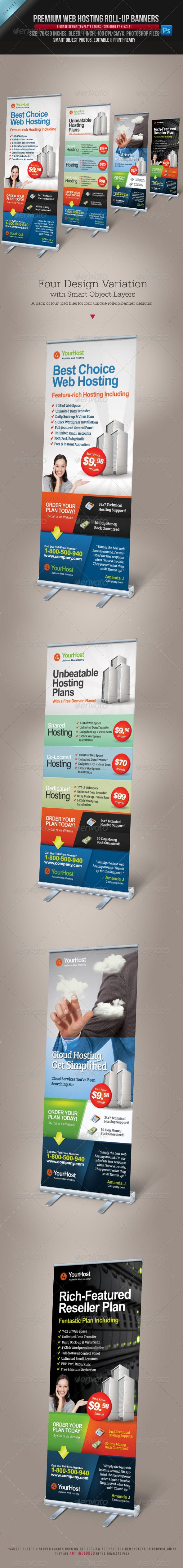Premium Web Hosting Roll-up Banners are design templates created for sale on Graphic River. More info of the template and how to get the template sourcefiles can be found on this page, http://graphicriver.net/item/premium-web-hosting-rollup-banners/4571155?r=kinzi21