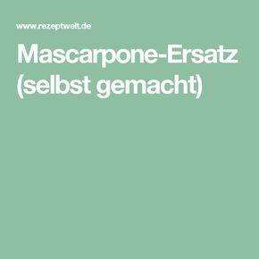 Mascarpone-Ersatz (selbst gemacht)