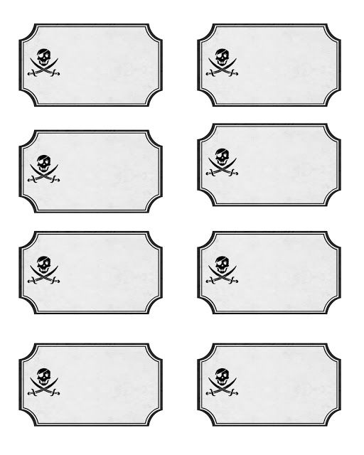 Diseño. Impreso. Pirate Party and Printable Labels!