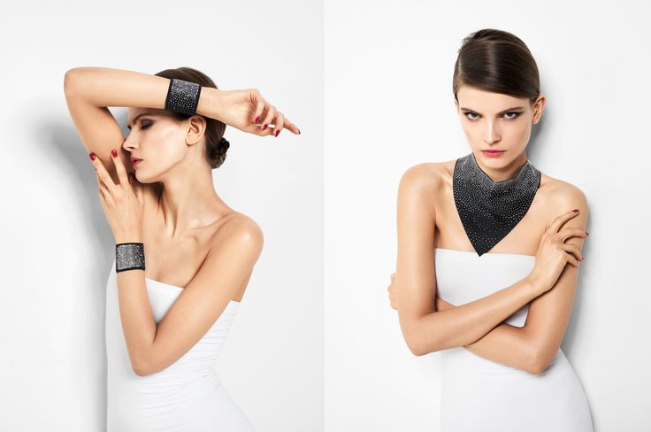 The Precious Collar and Bracelet by Wolford - perfect to accompany tops and dresses from the Spring/Summer 2015 range. These accessories create a luxurious and elegant look.