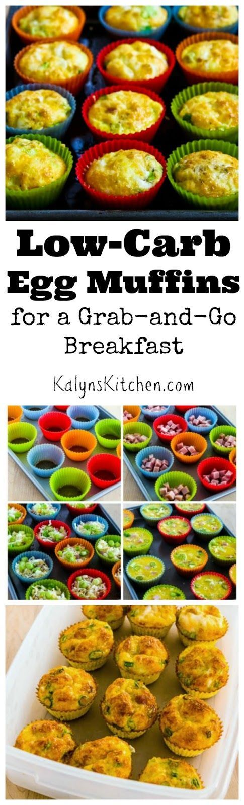 I think my Low-Carb Egg Muffins are perfect for a Grab-and-Go Breakfast any time of year, but these would be perfect for Back-to-School when you need something nutritious to feed the kids in a hurry! You can make them on the weekend and reheat all week. PIN NOW so you'll have this recipe when you need it. And for the adults, egg muffins are low-carb, gluten-free, and South Beach Diet friendly, and they're easy to make Paleo or Whole 30 approved as well. [from KalynsKitchen.com]