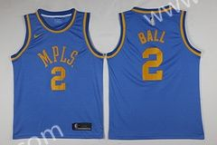 ae41ae0c9e0 MPLS-NBA Los Angeles lakers Blue  2 (BALL) Jersey