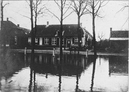 Kasteellaan Wijchen; overstroming van de Maas 1926