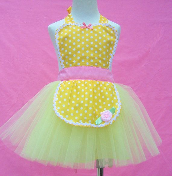 apron BELLE TUTU apron for girls fun for by loverdoversclothing, $26.00