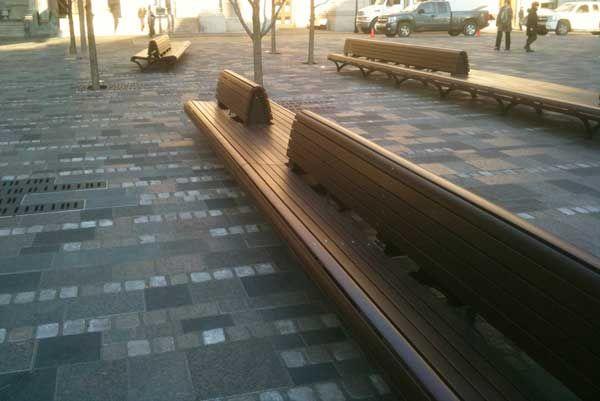 Mobilier urbain , urbain furniture, public space design, park bench, banc de parc.