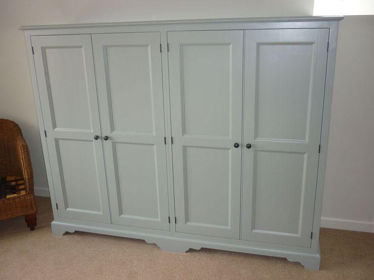 Bespoke Painted Quad Eaves Wardrobe - Painted - Wardrobes - Pine Shop Bury