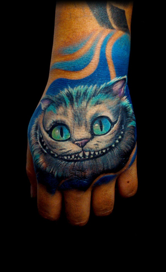 bili vegas cheshire cat i bet this was done with one of those pneumatic tattoo guns tattoos. Black Bedroom Furniture Sets. Home Design Ideas
