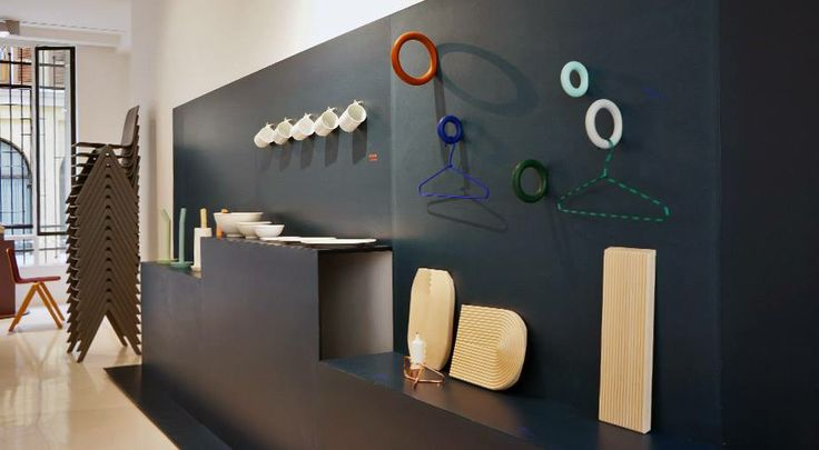 Hay displays educational chairs designed by Ronan & Erwan Bouroullec along side other various accessories
