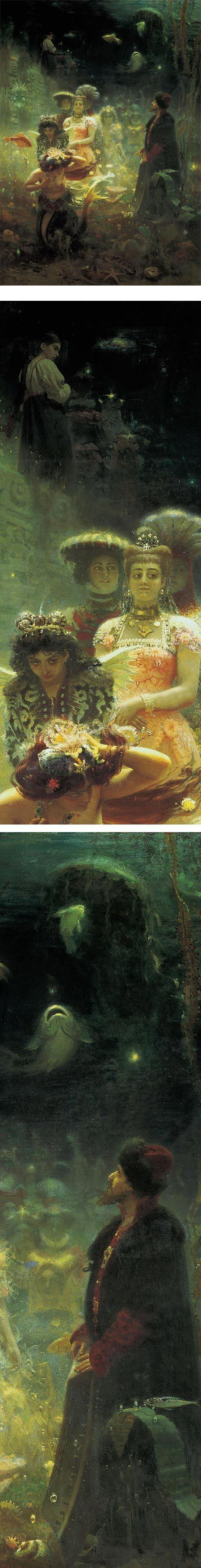 Ilya Repin (Илья́ Ефи́мович Ре́пин, 1844-1930)  Sadko in the Underwater Kingdom